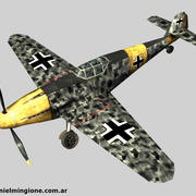 BF 109 (Low Poly) 3d model