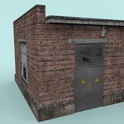 Здание с электронными двигателями (игра готова низкополигональная) 3d model