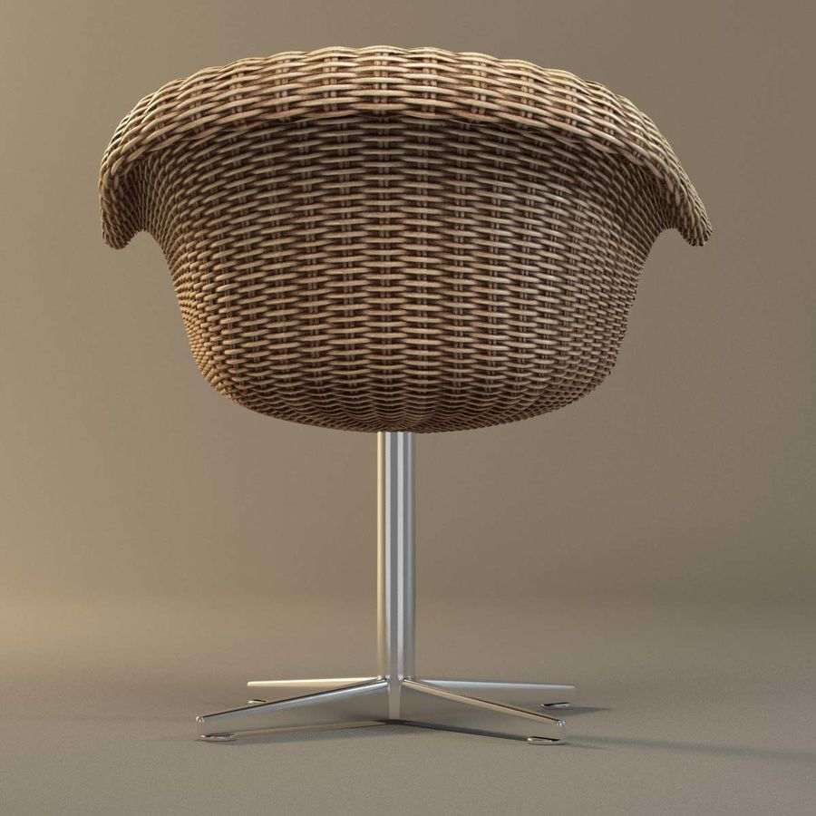 Rattan Chair royalty-free 3d model - Preview no. 5