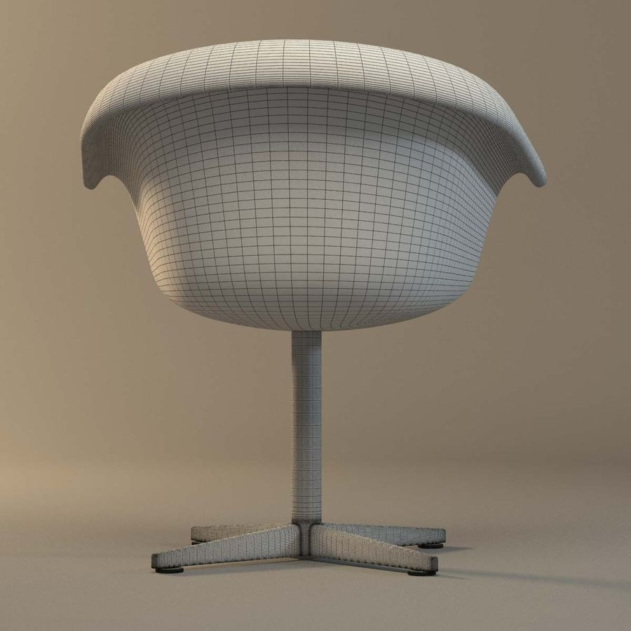 Rattan Chair royalty-free 3d model - Preview no. 9