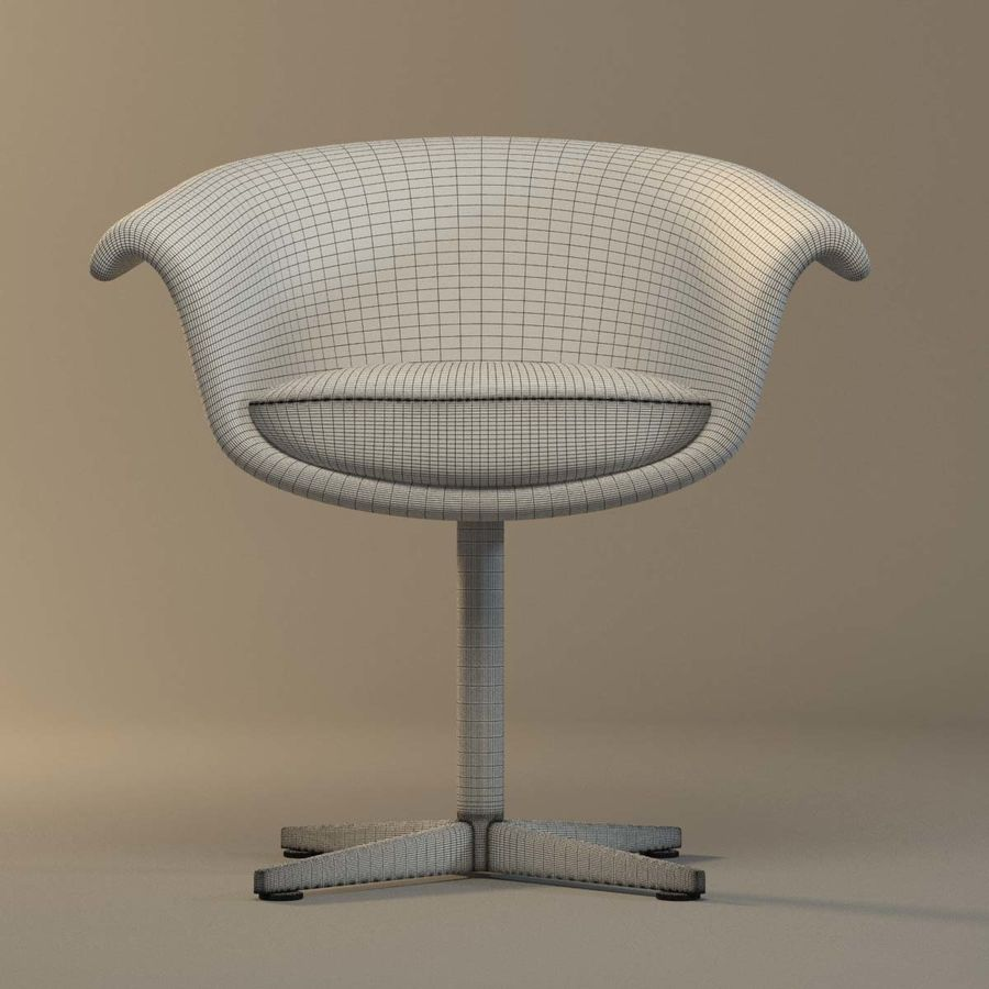 Rattan Chair royalty-free 3d model - Preview no. 11