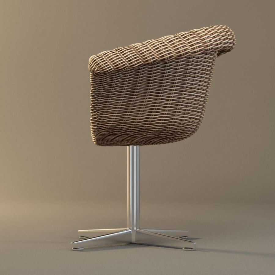 Rattan Chair royalty-free 3d model - Preview no. 6
