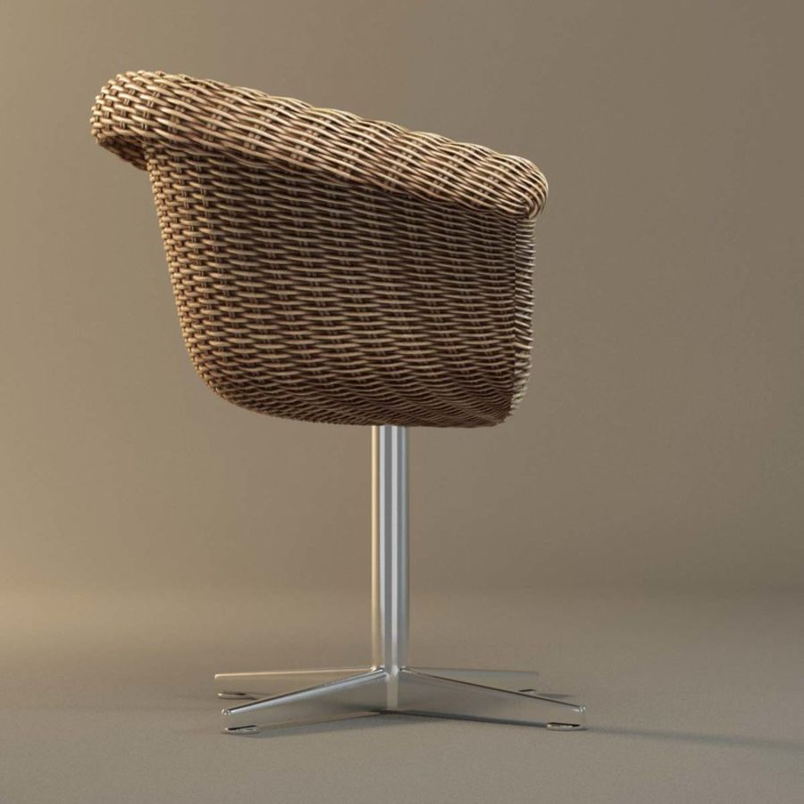 Rattan Chair royalty-free 3d model - Preview no. 4