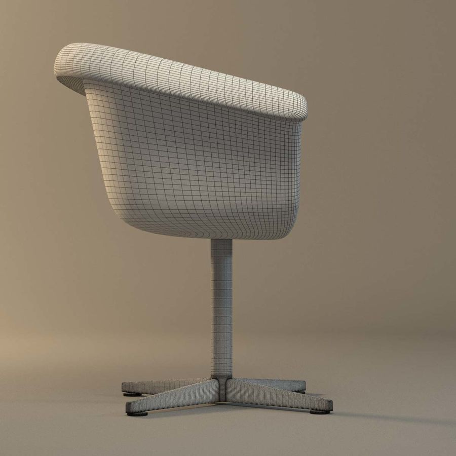 Rattan Chair royalty-free 3d model - Preview no. 8
