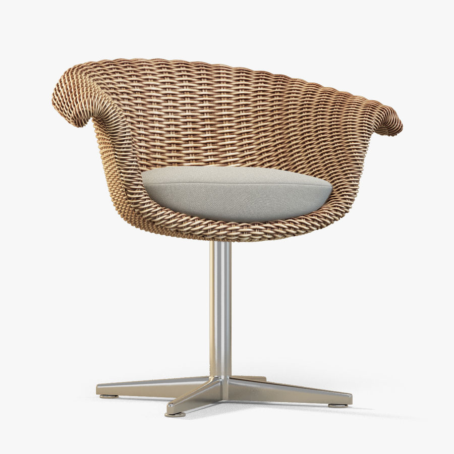 Rattan Chair royalty-free 3d model - Preview no. 1