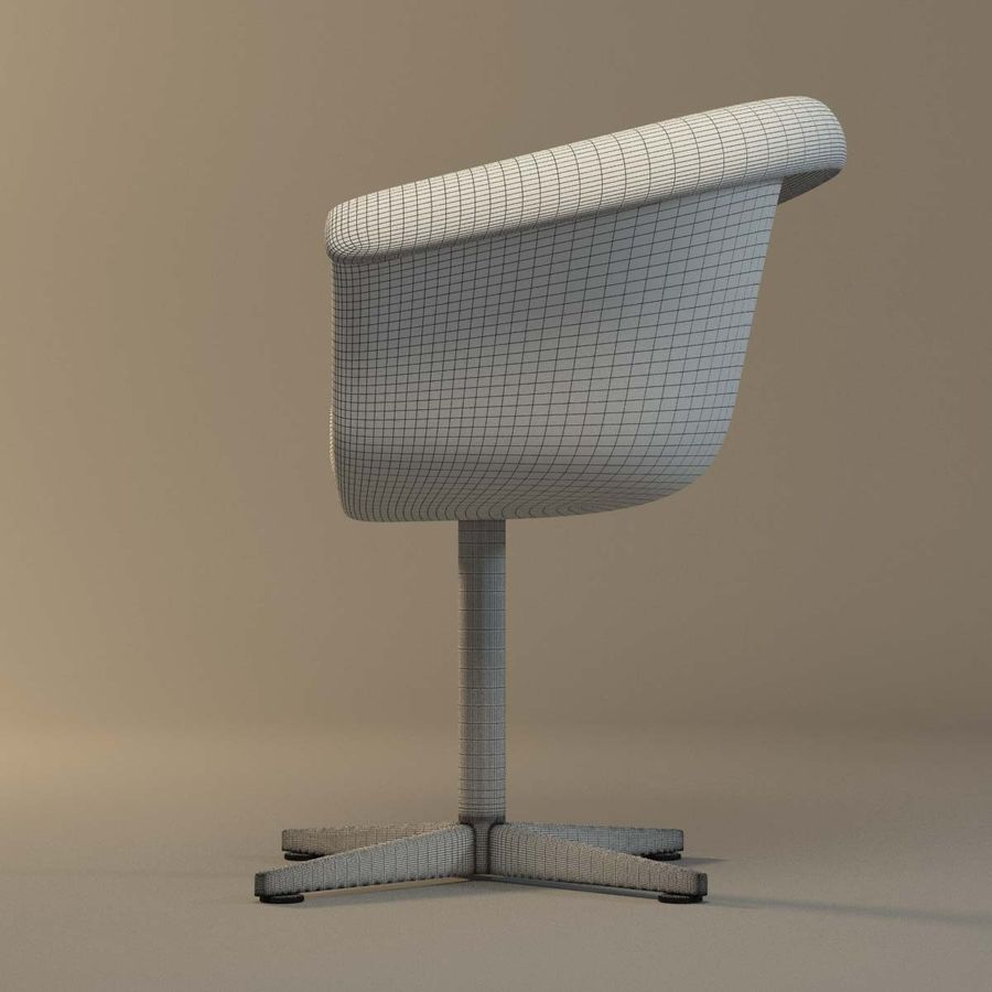 Rattan Chair royalty-free 3d model - Preview no. 10
