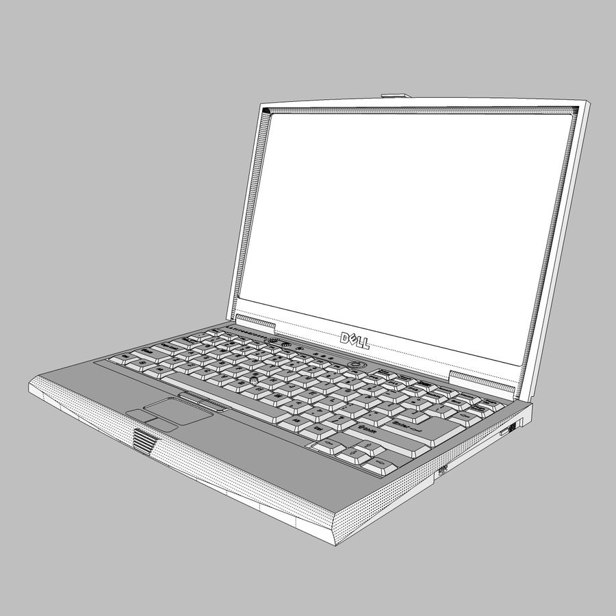 Laptop-Computer: Cinema 4d-Format royalty-free 3d model - Preview no. 14