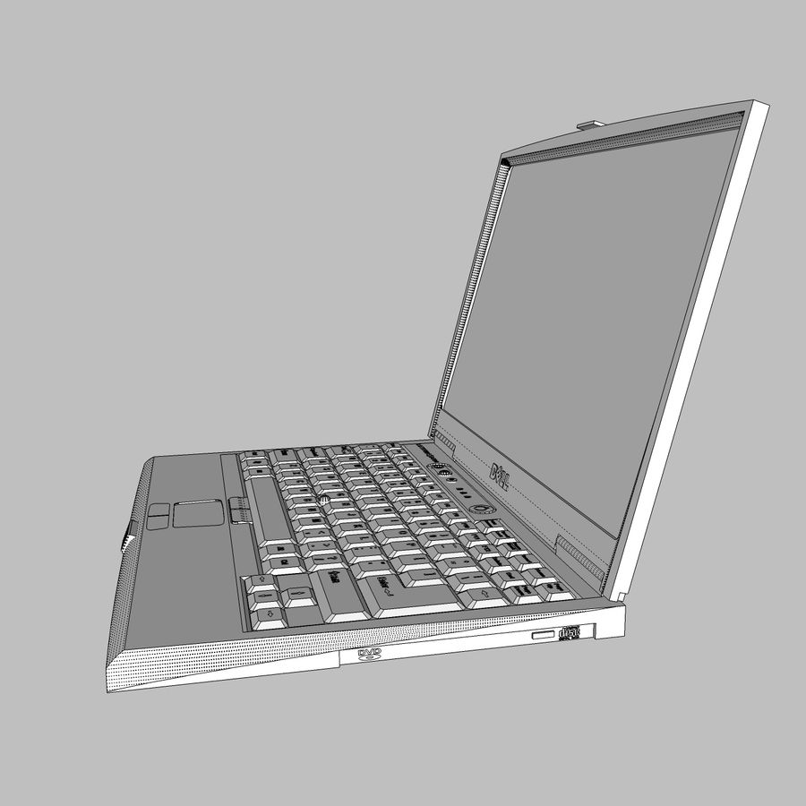 Laptop-Computer: Cinema 4d-Format royalty-free 3d model - Preview no. 16