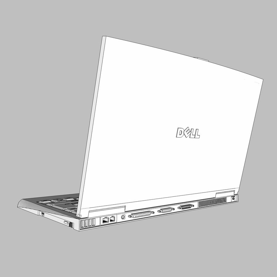 Laptop-Computer: Cinema 4d-Format royalty-free 3d model - Preview no. 17