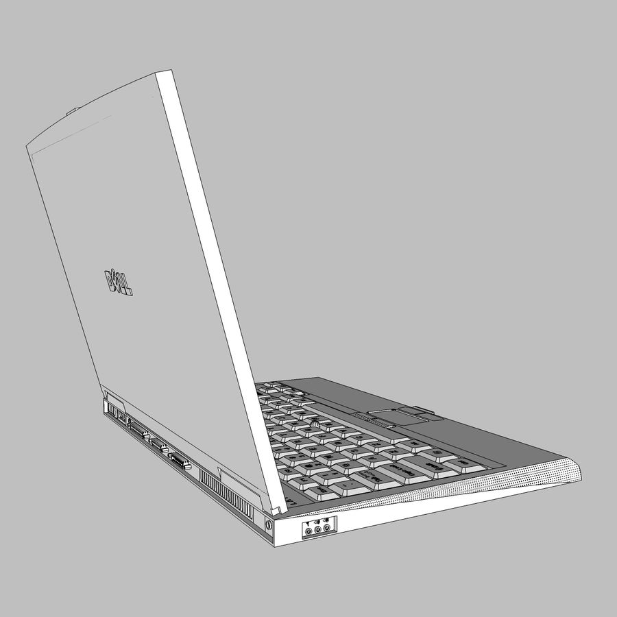 Laptop-Computer: Cinema 4d-Format royalty-free 3d model - Preview no. 23