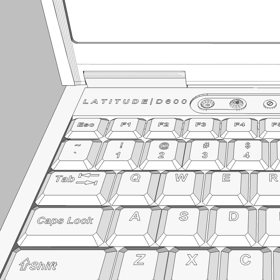 Laptop-Computer: Cinema 4d-Format royalty-free 3d model - Preview no. 21
