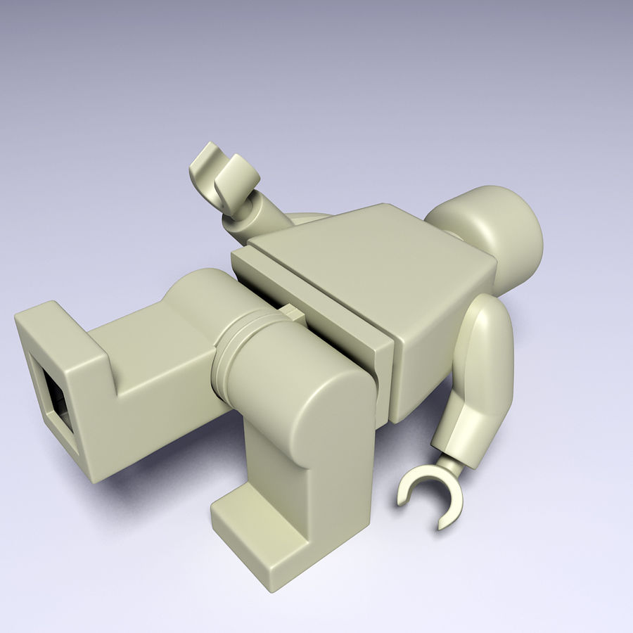 ijzeren man lego royalty-free 3d model - Preview no. 10