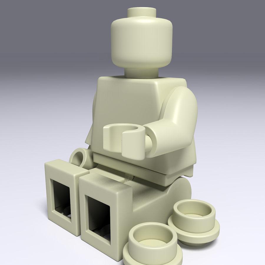 ijzeren man lego royalty-free 3d model - Preview no. 11