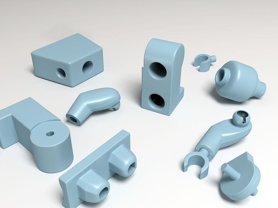 ijzeren man lego royalty-free 3d model - Preview no. 12