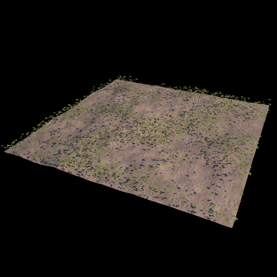 Front Yard (Terrain 2) royalty-free 3d model - Preview no. 6