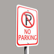 No Parking Sign 3d model