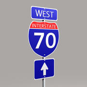 Interstate Sign 3d model