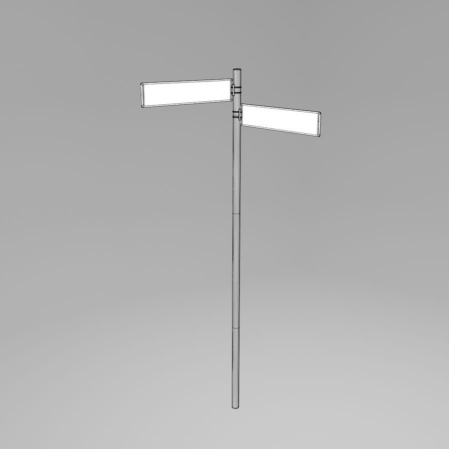 道路標識02 royalty-free 3d model - Preview no. 4