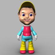 chłopiec kreskówka 3d model