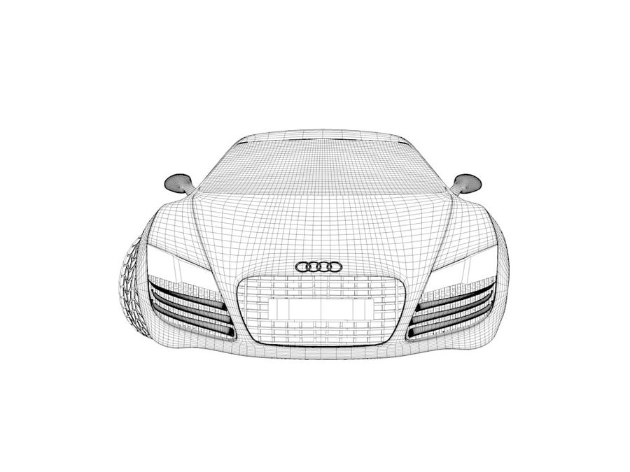 Audi R8 royalty-free 3d model - Preview no. 4