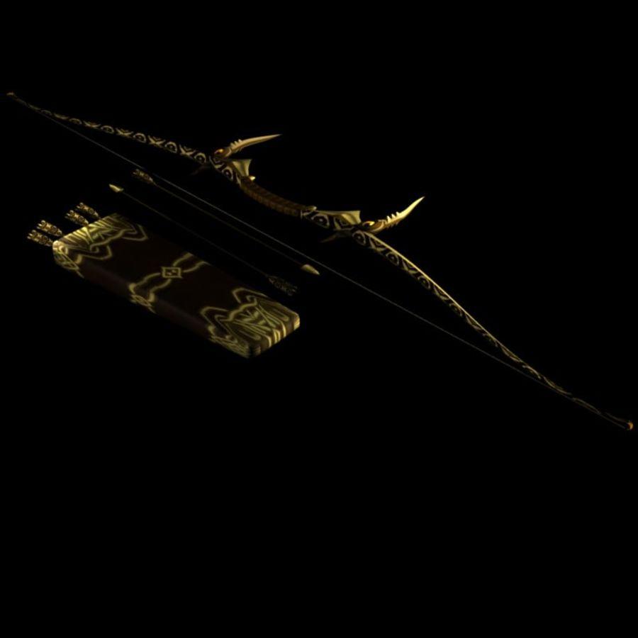 Arco con le frecce royalty-free 3d model - Preview no. 1