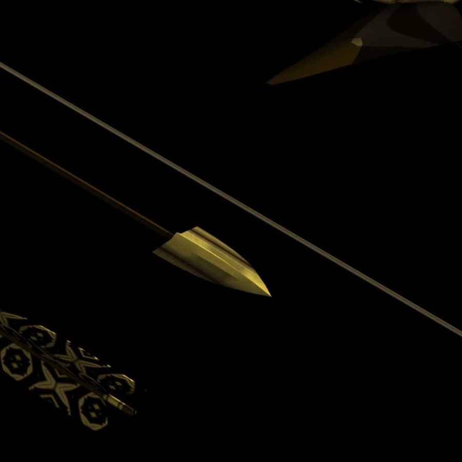 Arco con le frecce royalty-free 3d model - Preview no. 4