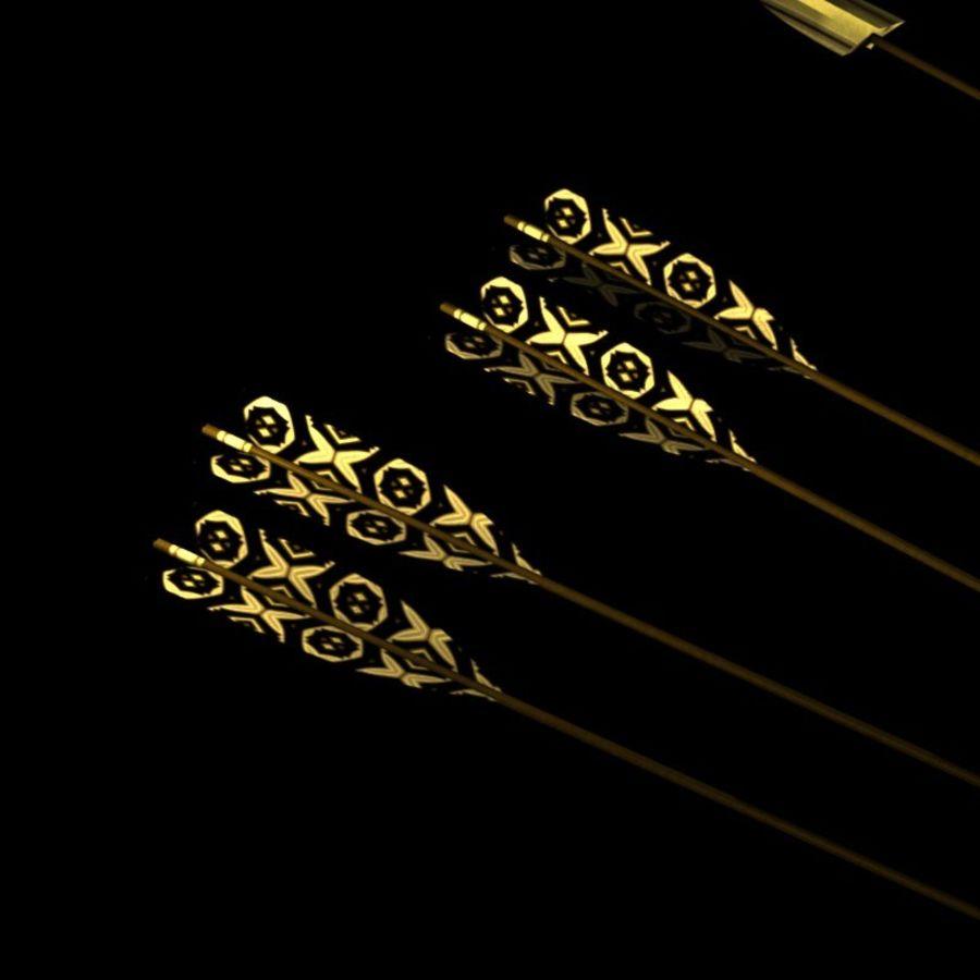 Arco con le frecce royalty-free 3d model - Preview no. 5