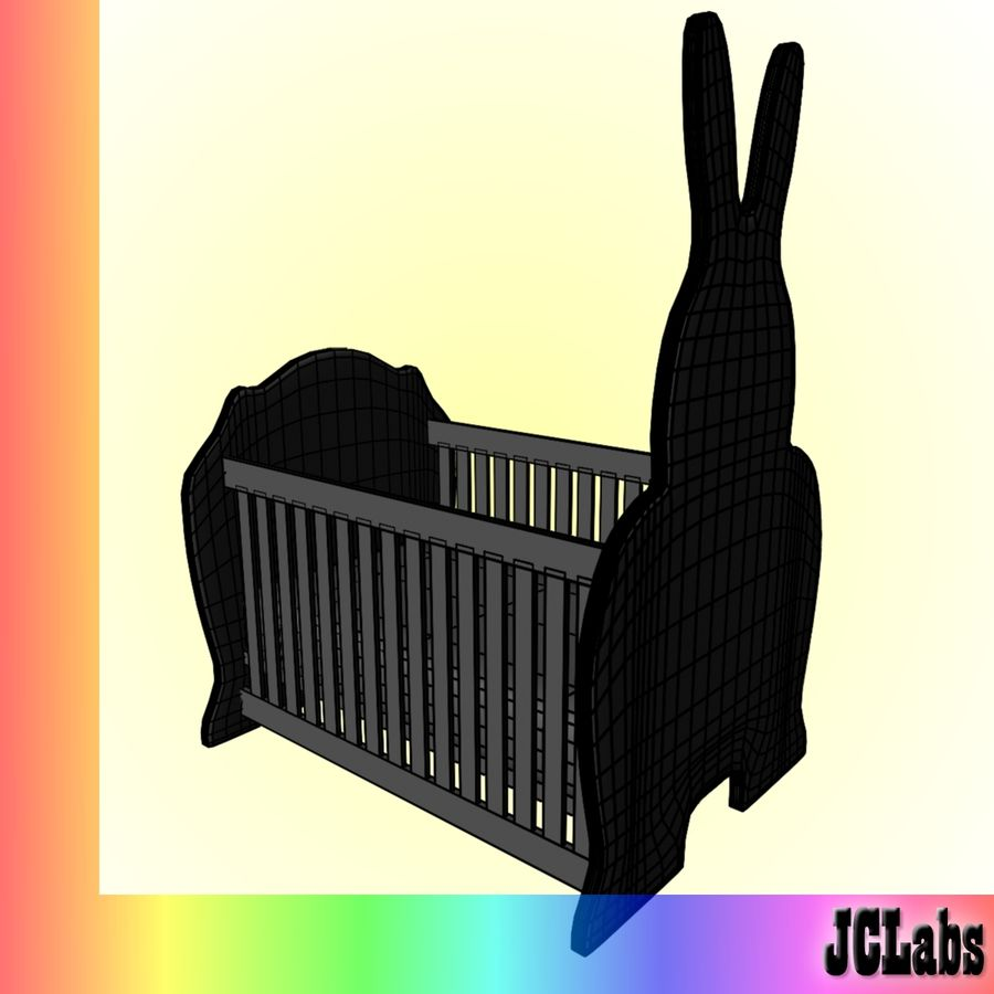 Baby Cot royalty-free 3d model - Preview no. 5