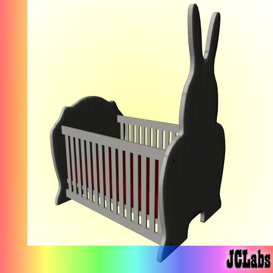 Baby Cot royalty-free 3d model - Preview no. 4