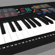 キーボード:ヤマハPSR180:C4Dモデル 3d model