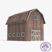 Wooden barn B 3d model