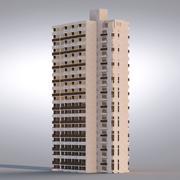 배경 건물 001 3d model