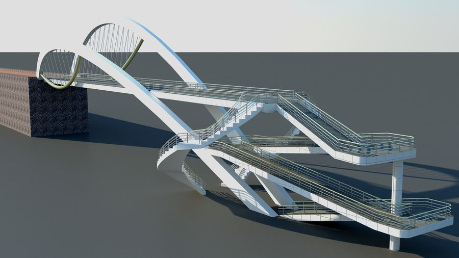 Bridge royalty-free 3d model - Preview no. 3