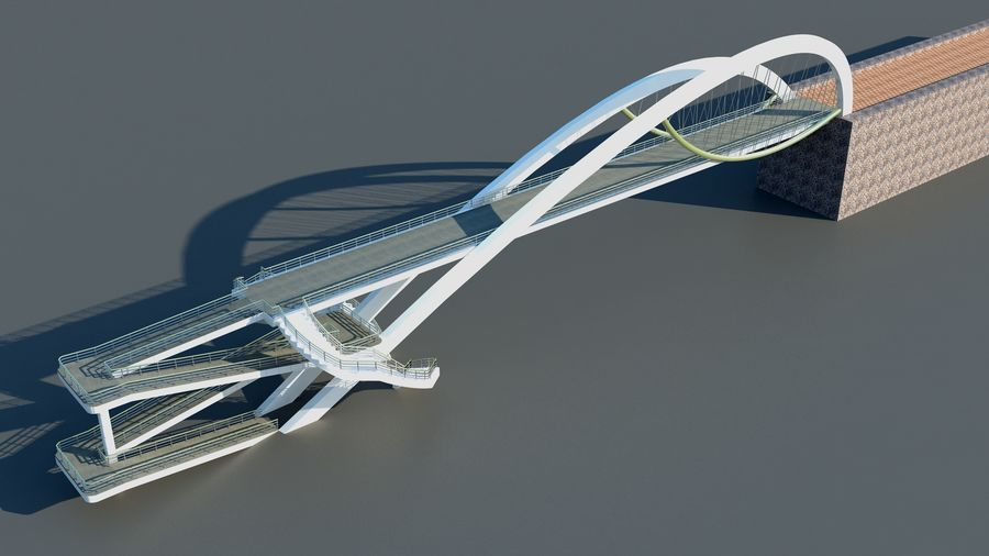 Bridge royalty-free 3d model - Preview no. 2
