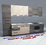 Kitchen furnitures with accesories model 02 3d model