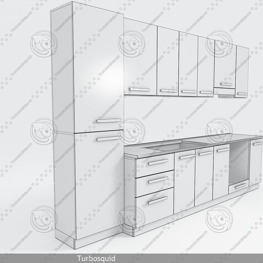 Meble kuchenne z akcesoriami model 02 royalty-free 3d model - Preview no. 4