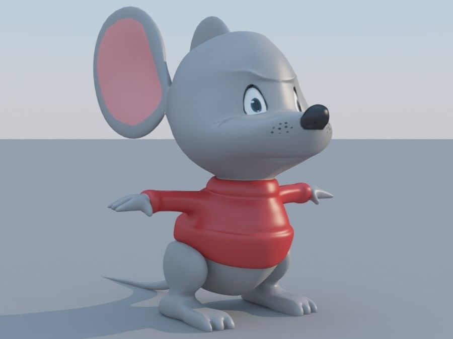 Souris de dessin animé royalty-free 3d model - Preview no. 9