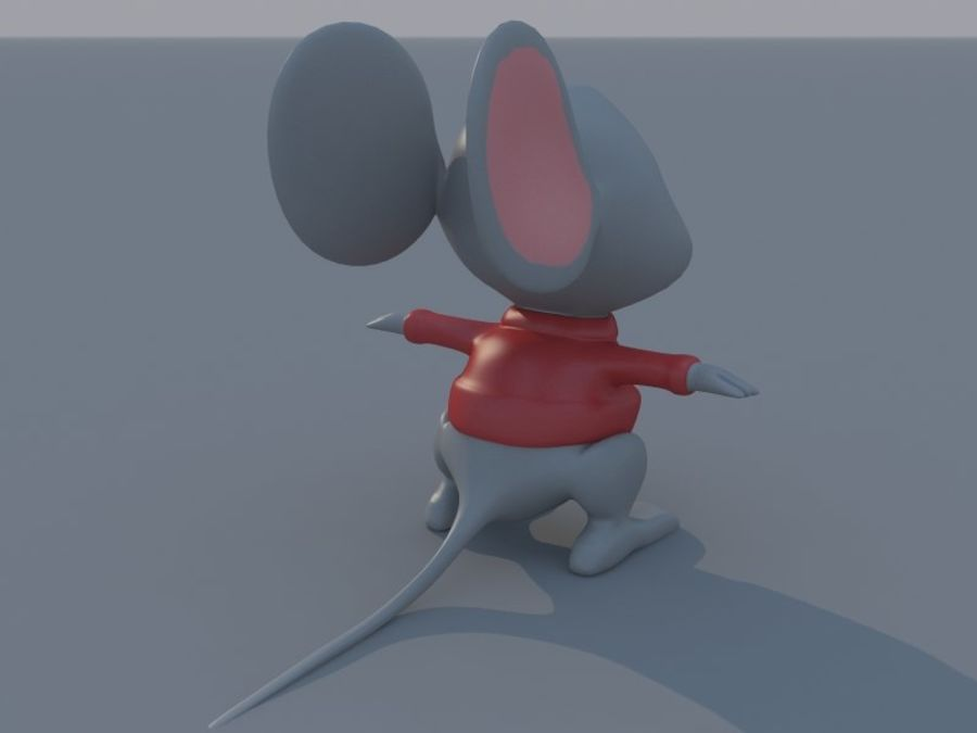 Souris de dessin animé royalty-free 3d model - Preview no. 7