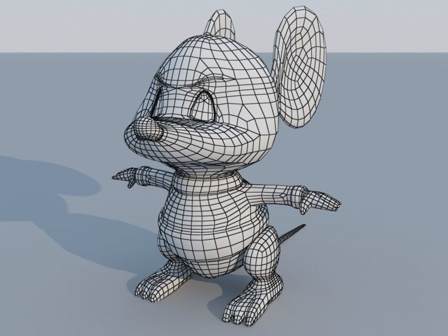 Souris de dessin animé royalty-free 3d model - Preview no. 6