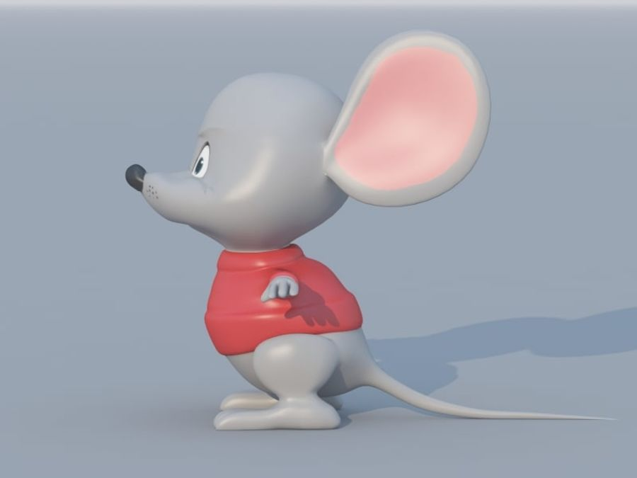 Souris de dessin animé royalty-free 3d model - Preview no. 1
