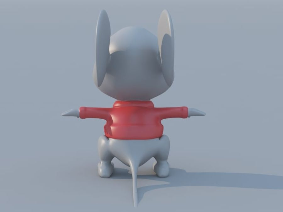 Souris de dessin animé royalty-free 3d model - Preview no. 3