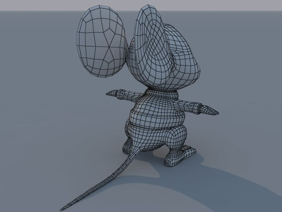 Souris de dessin animé royalty-free 3d model - Preview no. 8