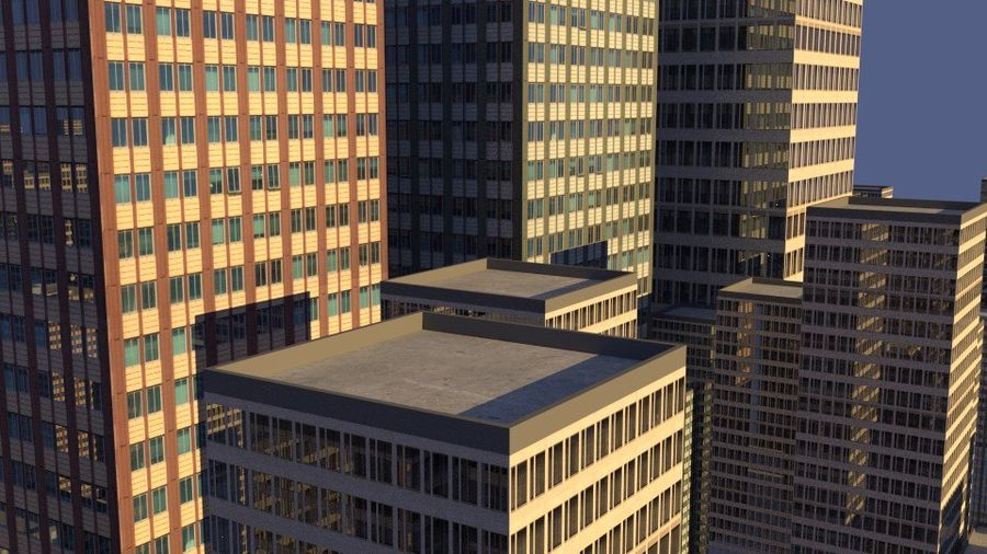 3 building city royalty-free 3d model - Preview no. 9