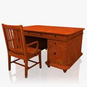 行政办公桌 3d model