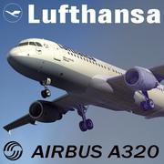 Airbus A320 Lufthansa modelo 3d