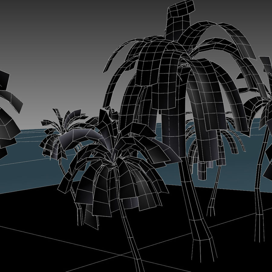 Palm Trees royalty-free 3d model - Preview no. 7