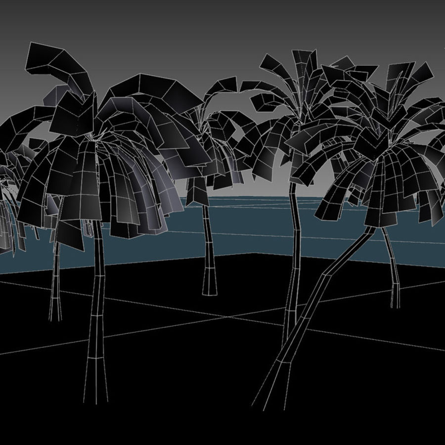 Palm Trees royalty-free 3d model - Preview no. 8
