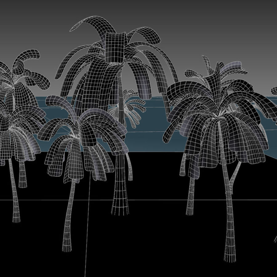 Palm Trees royalty-free 3d model - Preview no. 10