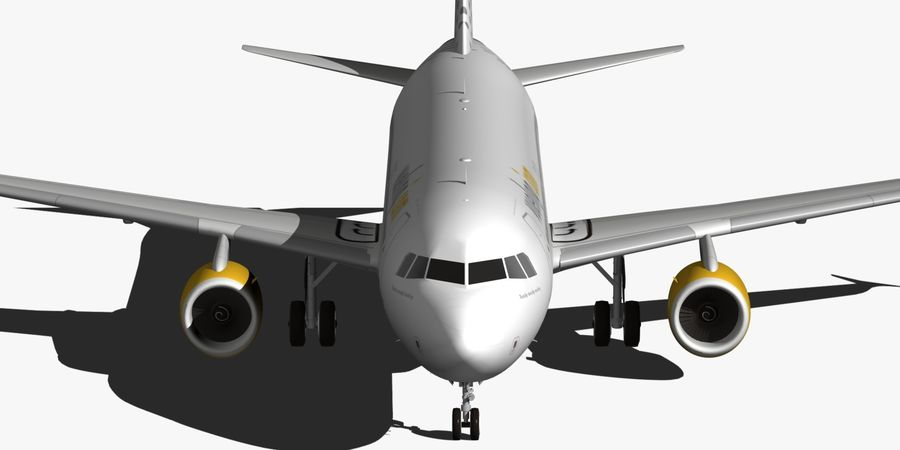 AIRBUS A320 VUELING royalty-free 3d model - Preview no. 9