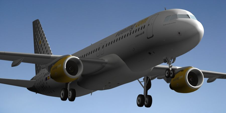 AIRBUS A320 VUELING royalty-free 3d model - Preview no. 6
